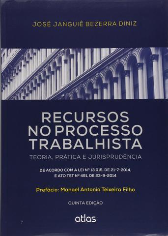Imagem de Livro - Recursos No Processo Trabalhista: Teoria, Prática E Jurisprudência