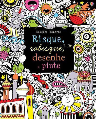 Imagem de Livro - Risque, rabisque, desenhe e pinte