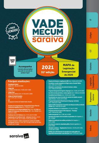 Imagem de Livro - Vade Mecum 2021 Saraiva - Tradicional - 31ª Edição