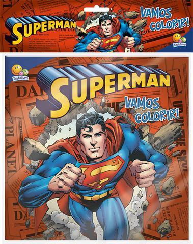 Imagem de Livro - Vamos colorir! Kit livro+lápis de cor: Superman
