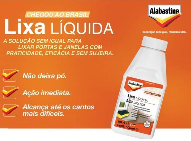 Imagem de Lixa Líquida 500ml Metais e Madeira, Não Deixa Pó Alabastine