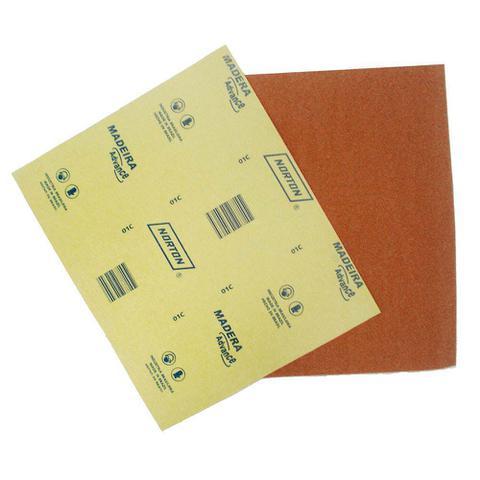 Imagem de Lixa para madeira 22,5x27,5cm gramatura marrom 150 Norton