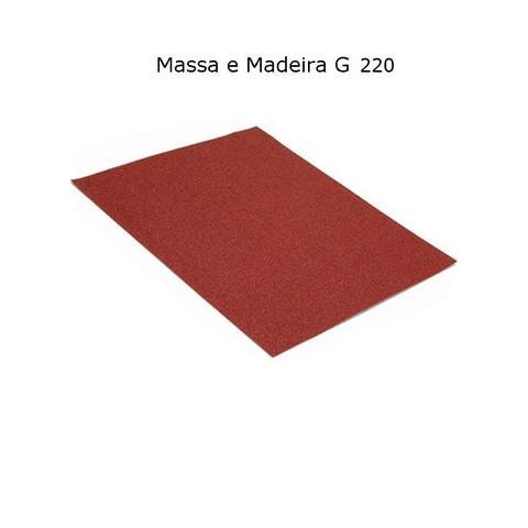Imagem de Lixa para Massa e Madeira Grão 220 Papel 23 x 28 cm