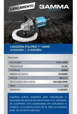 Imagem de Lixadeira Politriz 7 Pol Multifunções Automotiva 110v 1200w Gamma