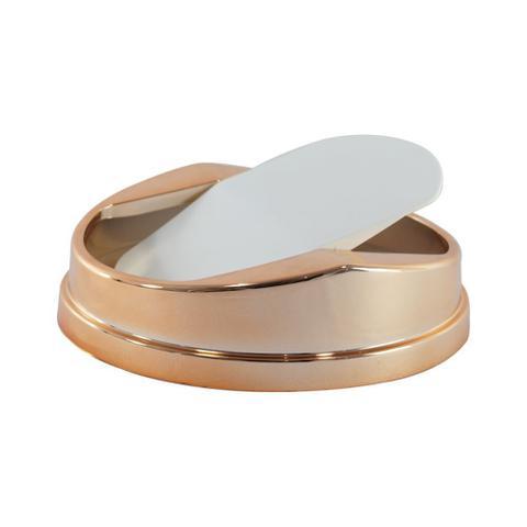 Imagem de Lixeira 5 Litros Com Tampa Basculante Cobre Rose Gold