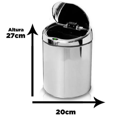 Imagem de Lixeira Automática com Sensor em Aço Inoxidável 3 Litros NKF