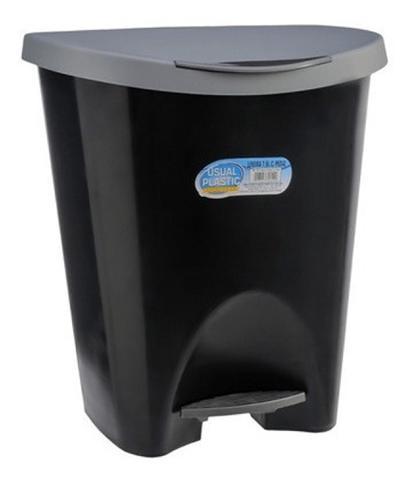Imagem de Lixeira Banheiro Cozinha Escritorio C/ Pedal 7,5 Litros Preto
