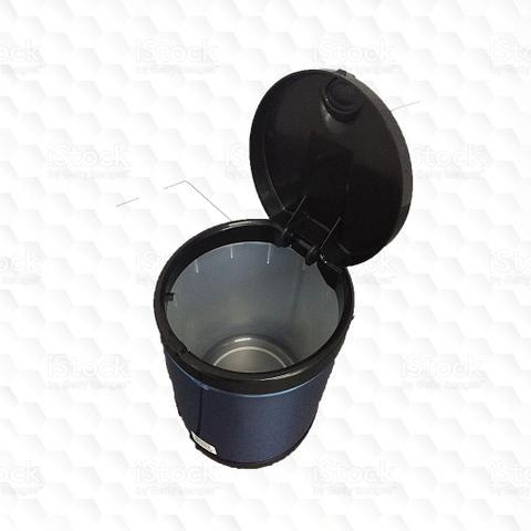 Imagem de Lixeira Cesto para Pia em Inox 2,5Litros Tampa de Clicar com Recipiente Plástico Interno - Viel