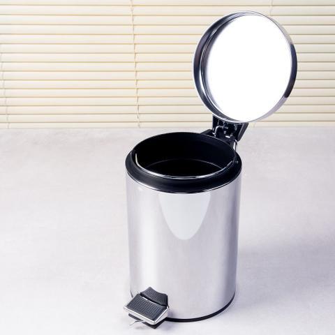 Imagem de Lixeira de inox com pedal 3 litros Coisas e Coisinhas