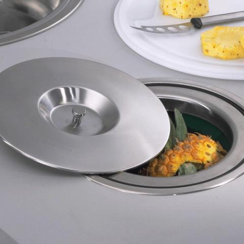 Imagem de Lixeira Pia Cozinha Embutir 5 L Inox Camaleão