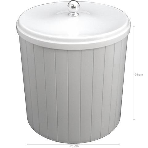 Imagem de Lixeira Plástica 5l Com Tampa Higiênica Banheiro Cozinha Branca