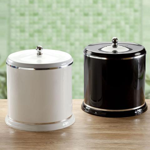 Imagem de Lixeira Plástica Pequena 5l Para Cozinha Banheiro Com Tampa Preto