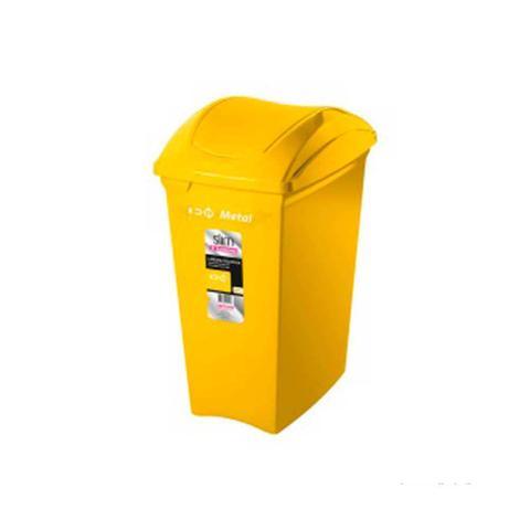 Imagem de Lixeira seletiva 40 litros amarela Sanremo
