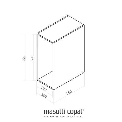 Imagem de Lixeira Simples com Corrediça Telescópica Vita 1308 Masutti Copat