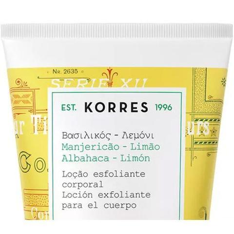 Imagem de Loção Esfoliante Corporal Korres Manjericão-Limão