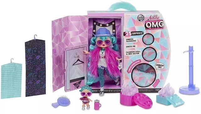 Imagem de Lol Surprise Omg Winter Disco  Cosmic Nova e Cosmic Queen -25 surpresas -  Candide