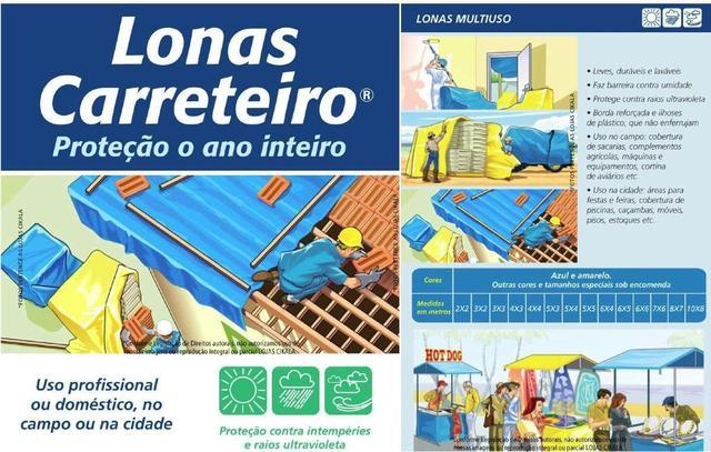 Imagem de Lona Carreteiro Encerado Reforcada 5 x 3 Mt