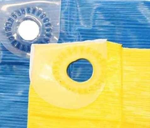 Imagem de Lona Carreteiro Encerado Reforcada 5x 4 Mt ( Azul / Amarela)