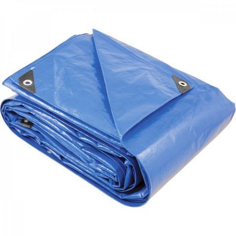 Imagem de Lona reforçada de polietileno azul 20 m x 20 m Vonder PLUS Azul Escuro