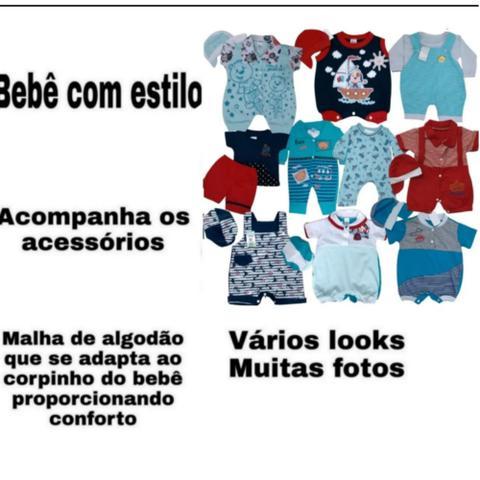Imagem de Lote com 10 macacões bebê Menino
