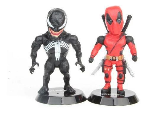 Imagem de Lote De Bonecos Miniaturas Marvel Thanos Thor Deadpool Venom
