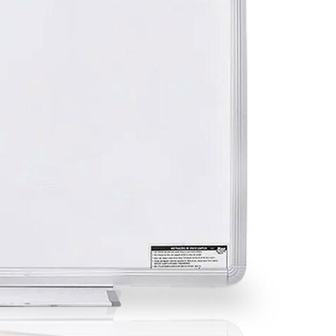 Imagem de Lousa Quadro Branco Mold Aluminio 80X60 Apagador + 5 Marcadores