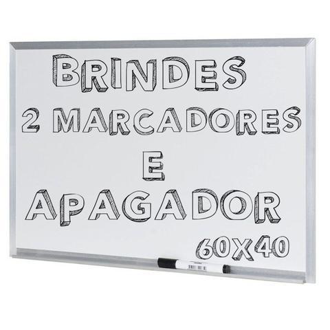 Imagem de Lousa Quadro Branco Moldura De Aluminio 60X40 Cm + Brinde
