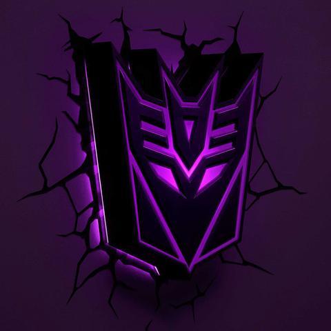 Imagem de Luminária 3D Light FX Transformers Escudo Decepticon