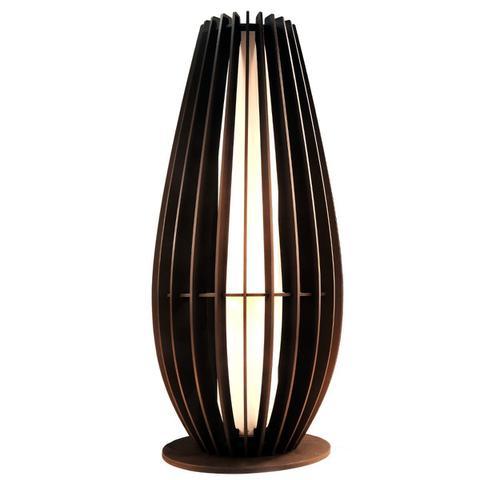 Imagem de Luminaria Abajur De Chão Em Madeira C/ Soquete E-27 Modelo O