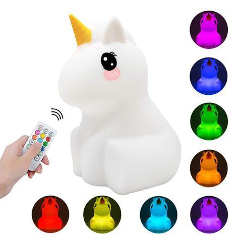 Imagem de Luminária Abajur Led Infantil Unicórnio Sem Fio Pet Light