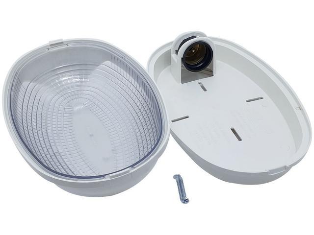 Imagem de Luminária Arandela Tartaruga Externa Teto e Parede Madri Bocal E27 25W  250V Branca