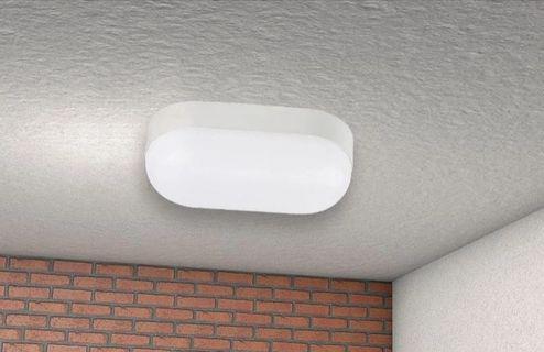 Imagem de Luminária balizador led de sobrepor tartaruga mini hall 8w, bivolt, branco quente - 3000k
