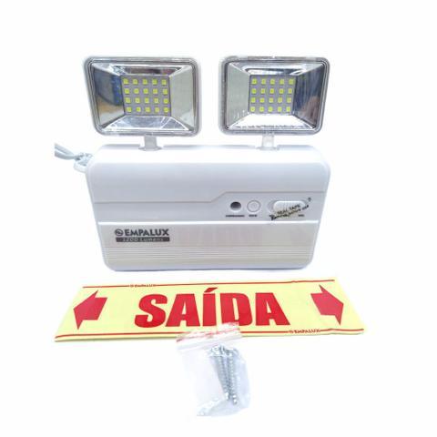 Imagem de Luminária de Emergência Led 2 Faróis 1200 Lumens Slim Empalux