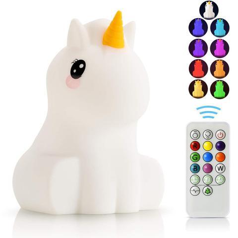 Imagem de Luminária Infantil 9 Cores Pet Light Unicórnio