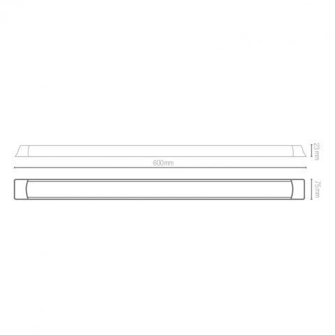 Imagem de Luminária LED de Sobrepor 18W Slim Blumenau 6500K Luz Branca