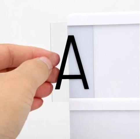 Imagem de Luminária Light Box Led A4 96 Letras, Ícones e Números