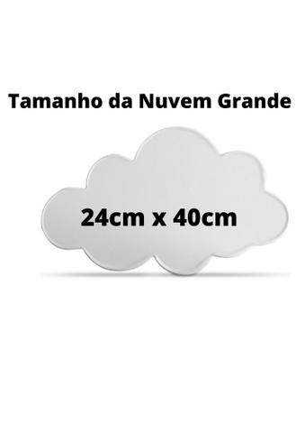 Imagem de Luminária Nuvem Luz de Led Parede Pilha Grande 40cm