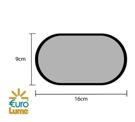 Imagem de Luminaria Para Muro Tartaruga Led 8w 6500k Externa Parede Eurolume 208-BC Bivolt Branco