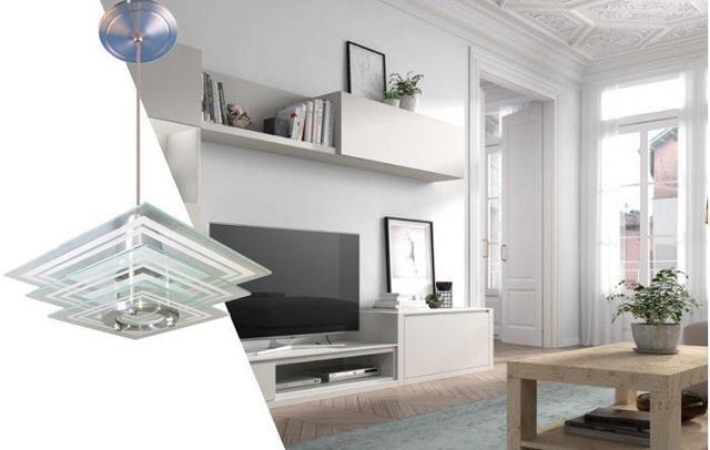 Imagem de Luminária Pendente Branco - Quadrado - Sala Quarto Cozinha