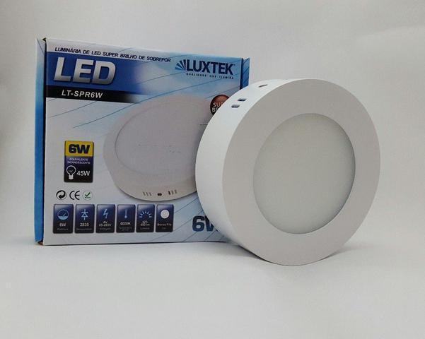 Imagem de Luminária Plafon LED 6w Sobrepor Branco Frio Redonda - Luxtek