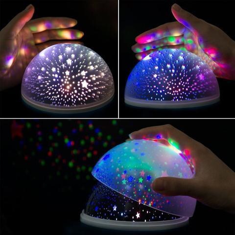 Imagem de Luminária Projetor Estrela 360 Night Light Azul