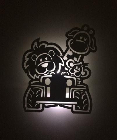 Imagem de Luminária Safari Com Led Sem Fio Para Quarto De Bebê