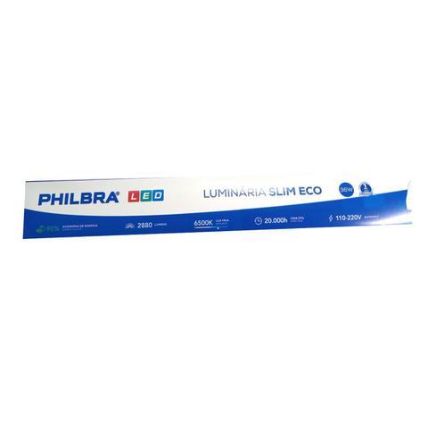 Imagem de Luminária Sobrepor Led 36w 120cm Tubular Branca Fria Slim