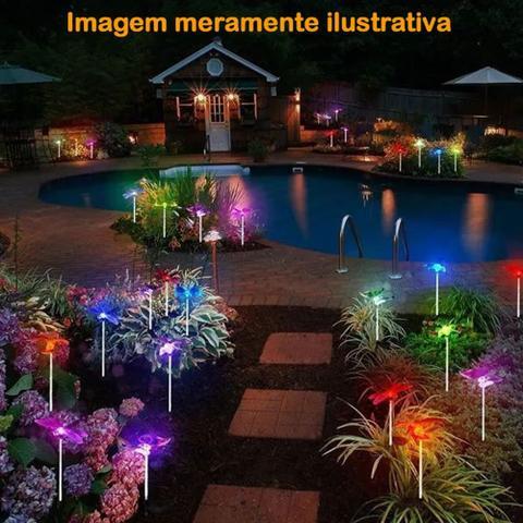 Imagem de Luminária Solar para Jardim em PVC Abelha 1381 2 Peças