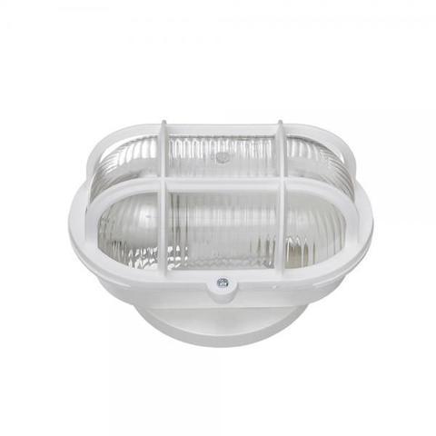 Imagem de Luminária Tartaruga Oval Branca para 1 lâmpada