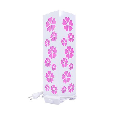 Imagem de Luminária Torre Flores Coração Rosa 33cm