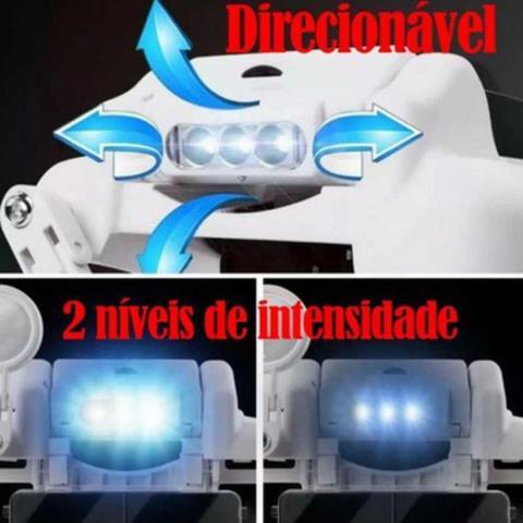 Imagem de Lupa Cabeça 6 lentes 3 Leds Estética leitura eletrônica 870 - Lorben