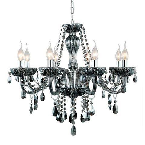 Imagem de Lustre anjou bella fume 43cmx46cm para 3 lâmpadas e14 com cabo de 150cm