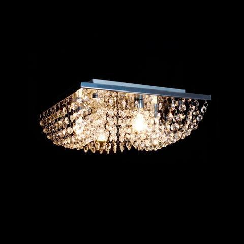Imagem de Lustre Cristal Plafon Quadrado 30x30x10cm