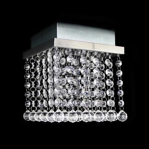 Imagem de Lustre de cristal acrilico bolinha esfera quadrado 17x17x15cm - jp/osakamini/17ac